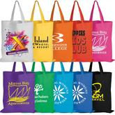 Coloured Cotton Short Double Handle Tote Bag - 140 Gsm