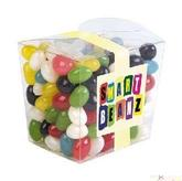 Assorted Colour Jelly Beans In Clear Mini Noodle Box