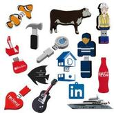 2D Custom Shape USB Flash Drive 25 Day Service