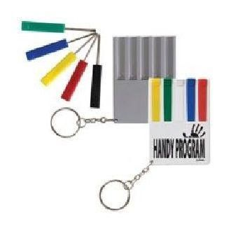 5 Piece Screwdriver Set / Keytag