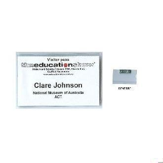 Business card size rigid badge holder with magnet on reverse fully business card size rigid badge holder with magnet on reverse fully produced colourmoves