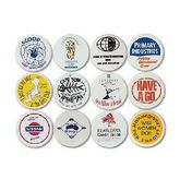White Plastic Button Badge